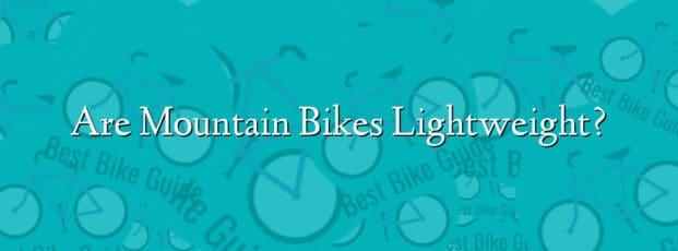 Are Mountain Bikes Lightweight?