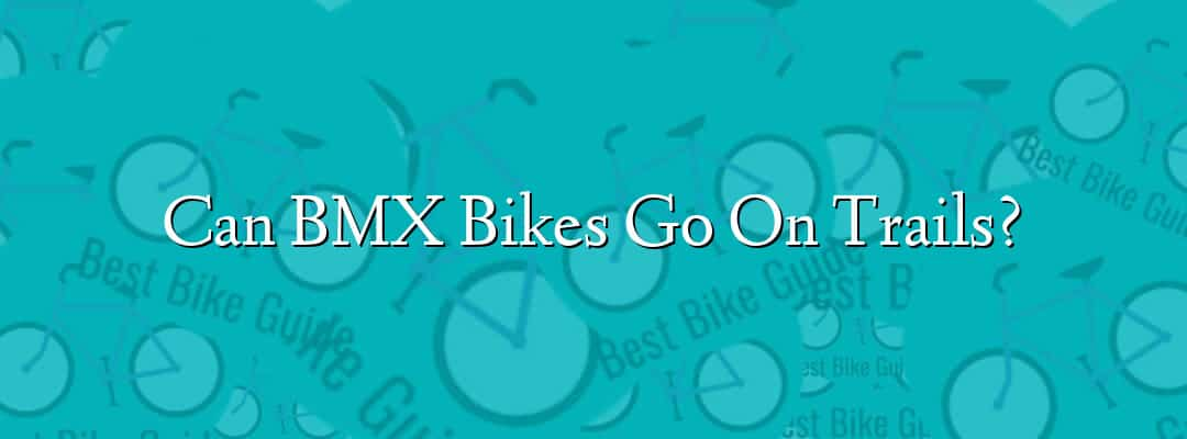 Can BMX Bikes Go On Trails?